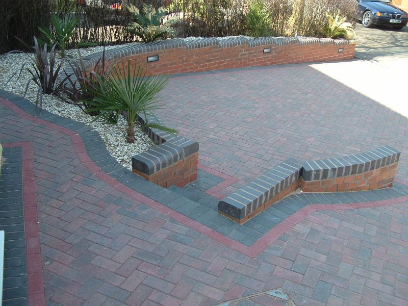 Specialist paved driveway